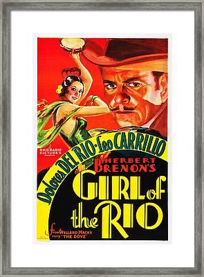 Girl Of The Rio, Us Poster, From Left Framed Print
