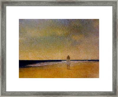 Girl On A Beach Framed Print