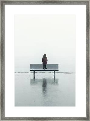 Girl On A Bench Framed Print by Joana Kruse
