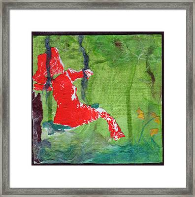 Girl On A Swing Framed Print