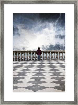 Girl On A Terrace Framed Print