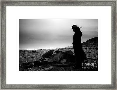 Girl On The Beach Framed Print