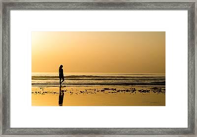 Girl On The Beach Framed Print