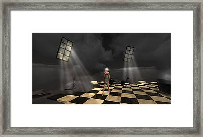 Framed Print featuring the digital art Girl On The Floor by Susanne Baumann