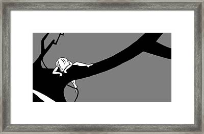 Girl On The Tree Of Time Framed Print