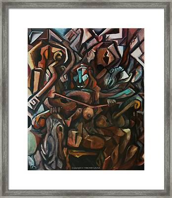 Framed Print featuring the painting Girl Playing Violin by Kim Gauge