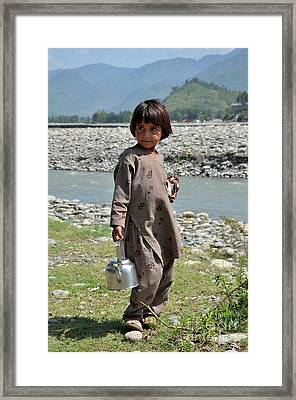 Girl Poses For Camera  Framed Print by Imran Ahmed