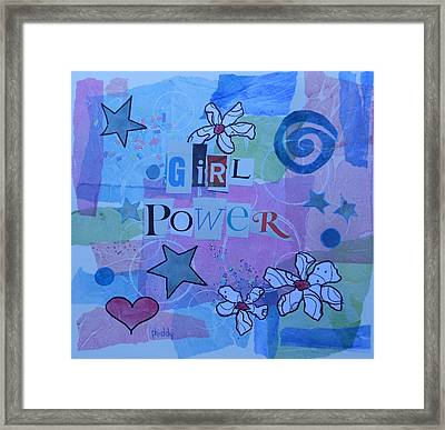 Girl Power Framed Print