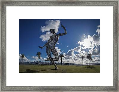 Blistering Dance Framed Print by Sean Foster