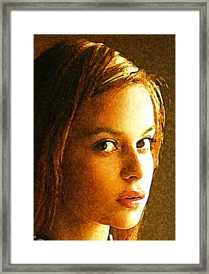 Girl Sans Framed Print
