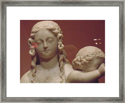 Girl Sculpture Framed Print