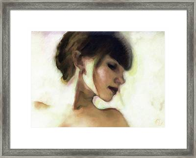 Girl Study Framed Print by Gun Legler
