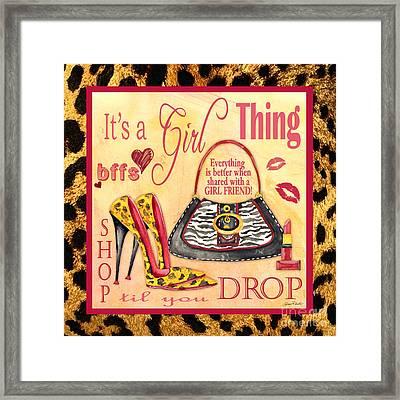 Girl Thing-c Framed Print