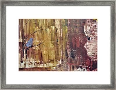 Girl With A Blue Bird Framed Print by Evelina Popilian