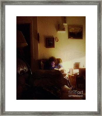 Girl With A Book Framed Print by RC deWinter