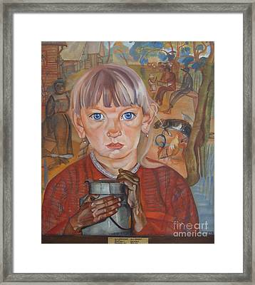 Girl With A Milk Can Framed Print by Celestial Images
