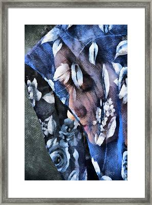 Girl With A Rose Veil 1 Illustration Framed Print by Angelina Vick