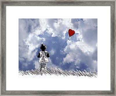 Girl With Balloon 2 Framed Print