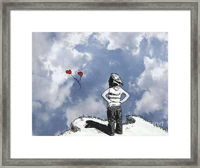 Girl With Balloons 4 Framed Print