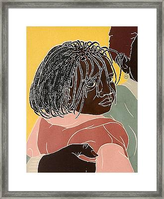 Girl With Braids Framed Print