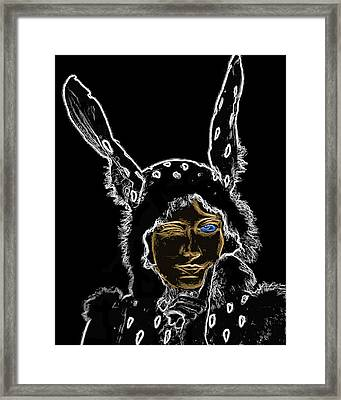Girl With Bunny Ears Man Ray Homage Framed Print by Brian King