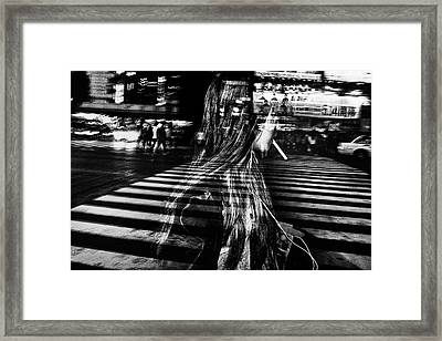 Girl With Cigarette Framed Print