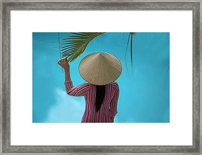 Girl With Conical Hat, Nha Trang Framed Print