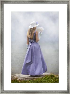 Girl With Fan Framed Print by Joana Kruse