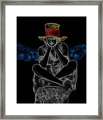 Girl With Hat Man Ray Homage Framed Print by Brian King