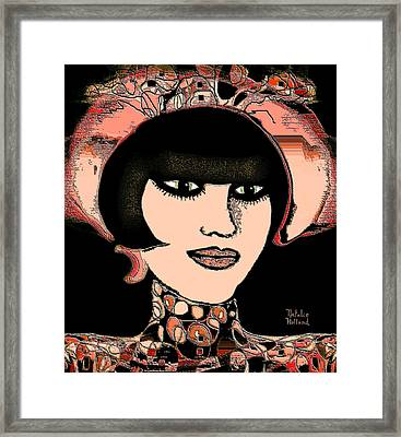 Girl With Hat Framed Print by Natalie Holland