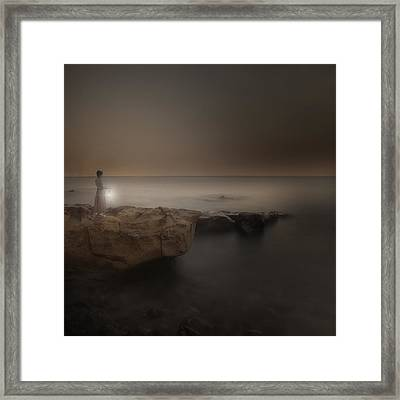 Girl With Lantern Framed Print by Joana Kruse