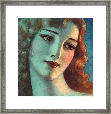 Girl With Long Blond Hair Framed Print by W T Benda