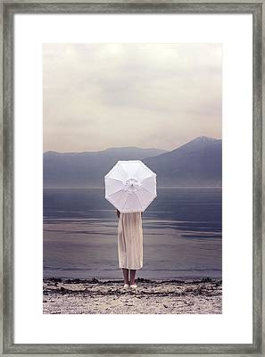 Girl With Parasol Framed Print by Joana Kruse
