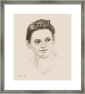 Girl With Shades Framed Print