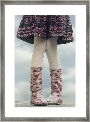 Girl With Wellies Framed Print by Joana Kruse