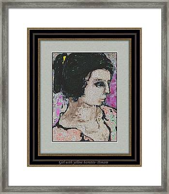 Girl With Yellow Barrette Gwyb2 Framed Print