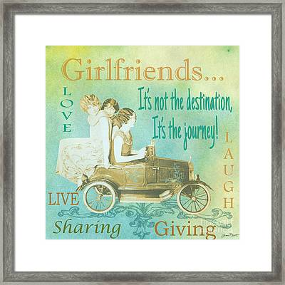 Girlfriends-a Framed Print by Jean Plout