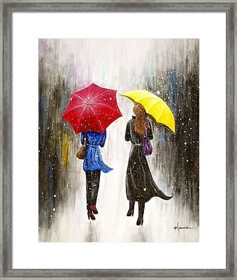 Girlfriends Framed Print by Kume Bryant