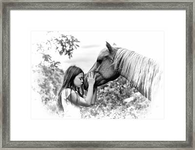 Girls And Their Horses Framed Print