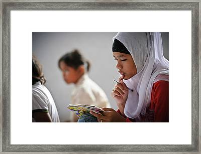 Girls At School Framed Print by Matthew Oldfield