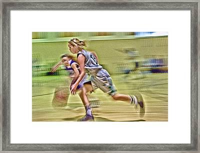 Girls Basketball Framed Print