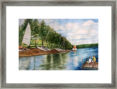 Girls Day At The Lake Framed Print by Enola McClincey