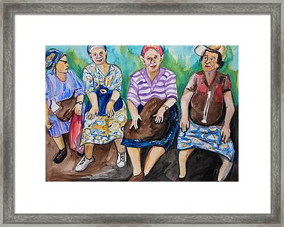Girls Day Out Framed Print by Esther Newman-Cohen