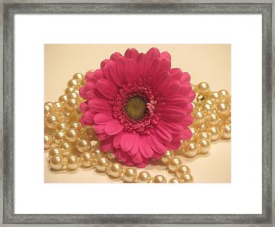Girls Like Pearls Framed Print by Angela Davies