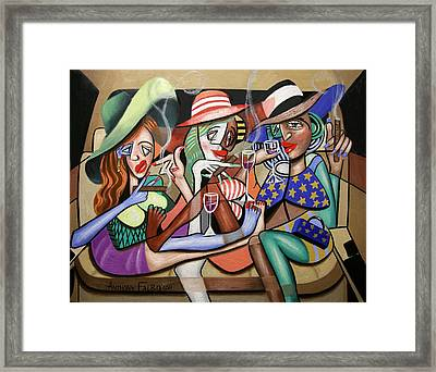 Girls Night Out Framed Print by Anthony Falbo