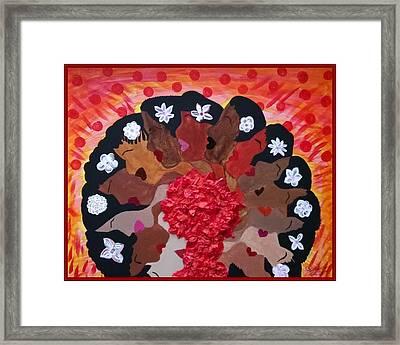 Girls On Fire Framed Print by Clarissa Burton