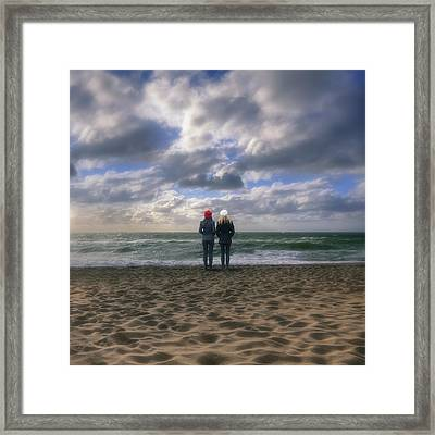 Girls On The Beach Framed Print by Joana Kruse