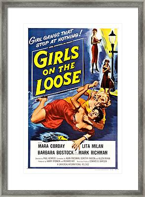 Girls On The Loose, Mara Corday Back Framed Print