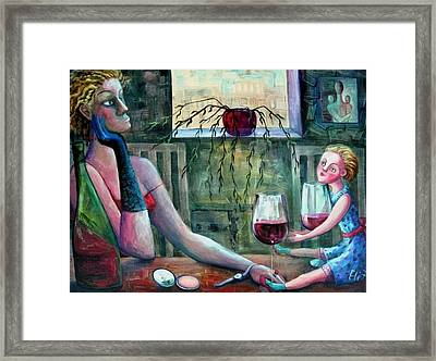 Girls Party Framed Print by Elisheva Nesis