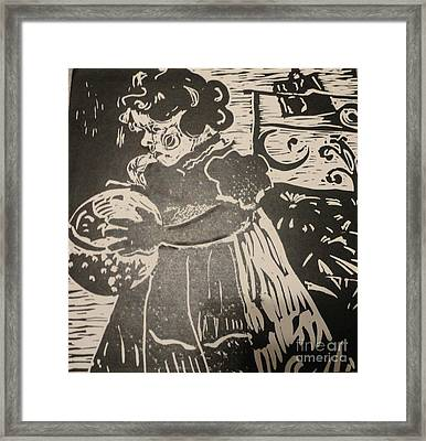 Girl's Play Framed Print